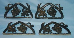 Two Pairs Of Vintage Door Wall Porch Shelf Brackets