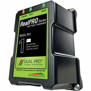 Dual Pro Realpro 12 Volt 6 Amp Waterproof Battery Charger acc rs 1