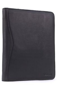 Ash Wood Leather A4 Zip Conference Business Folder