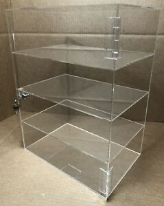 12 x 6 x 16 Countertop Display W Door And Lock Cabinet Showcase Acrylic