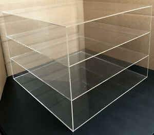 3 Shelves Large Pizza Display Case For Cooled Products Only Countertop Large