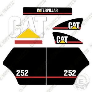 Caterpillar 252 Decal Kit Equipment Decals Older Style