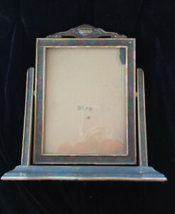 Antique Wooden Standing Picture Frame Rotating Swinging 6x8 Size Greta Garbo