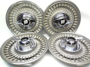 Buick 1963 Riviera Cast Aluminum Wheels 2 Bar Spinners Center Caps Hub Cap 1964