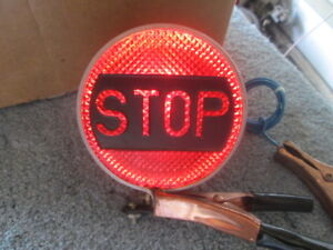 Vintage Stop Light With Word Stop 6v Works Perfect