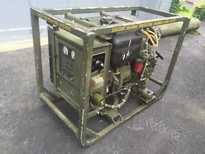 Military Mep 501a Diesel Powered Engine Generator Set 2kw 28vdc