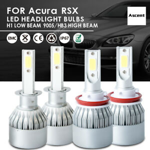 Front H1 9005 Hb3 Led Headlight Conversion Kit Bulb For Acura Rsx 2006 2005 Beam