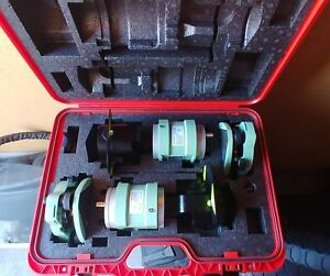 Leica Traverse Kit W 2 Snll121laser Plummet Precision Prisms Tribrachs Case