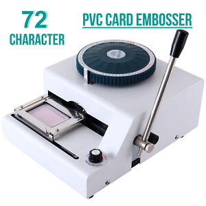 Suncoo Stamping Machine Letter Manual Embosser 72 Character Pvc Credit Card