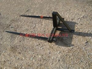 Hay Bale Mover Stacker Bucket Mounted W 2 48 Hay Spears