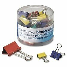 Officemateoic Binder Clips Assorted Colors And Sizes 30 Clips Per Tub