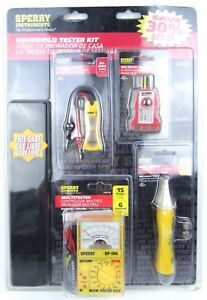 New Sperry Instruments Electrical Voltage Outlet Household Tester Kit Htk5