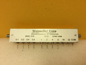 Weinschel 6169 3209 1e Dc To 3 Ghz Sma f Programmable Attenuator Tested