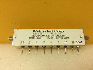 Weinschel 6038 3200 2e Dc To 3 Ghz Sma f Programmable Attenuator Tested