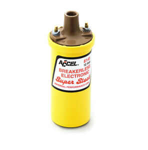 Accel 8145acc Ignition Coil Superstock Breakerless Electronic Coil Yellow