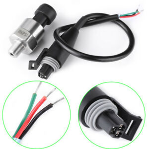 Stainless Steel Pressure Transducer Sender Sensor 1 8 Npt For Oil Fuel Air Water