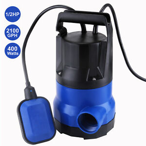 Suncoo 2100gph Submersible Water Pump 1 2hp Clean Dirty Flood Pond Pool Drain