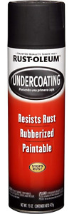 Rubberized Undercoating Black Spray Paint Auto Truck Metal Protection 15 Oz 6 Pk
