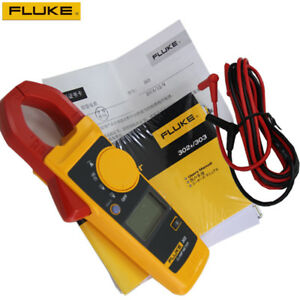 Genuine New Backlight Version Fluke 302 Clamp Meter Ac dc Handheld Multimeter