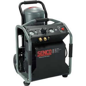 Senco Pc0969 1 3 4hp 4 1 2 Gallon Roll Away Air Compressor New