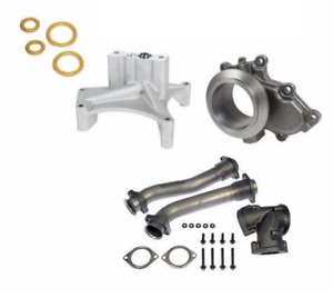 Turbo Pedestal Exhaust Housing Up Pipes For 99 5 03 Ford 7 3l Powerstroke Diesel