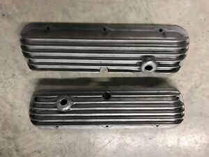 Cal Custom 289 Ford Race Valve Covers Dry Sump Motor Aeroquip Lines Or Plugged