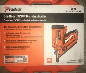 New Paslode Cordless Li ion 30 Degree Framing Nailer Nail Gun Cf325xp sealed