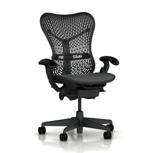 Herman Miller Mirra Office Chair Fully Loaded Tilt Lock Posturefit Adj Arm