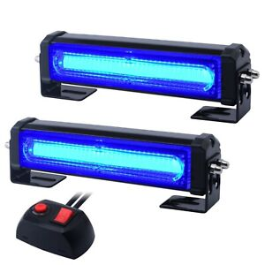 Wowtou Emergency Blue Grille Light Head 16w Bright Linear Led Mini Strobe Li