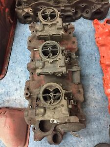 Chevrolet 348 Tri Power 3x2 Intake With Carbs 1959 59 Fits 58 65 348 Or 409