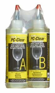Pc Products 70161 Pc clear Two part Epoxy Adhesive Liquid 16 Oz In Two Bottle
