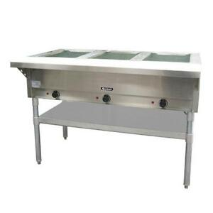 Adcraft St 120 3 48 Steam Table 3 Well Hot Food Warmer