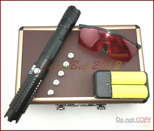 Bx8 450nm Adjustable Focus Burning Blue Laser Pointer 3 Switch Modes 26650 Bt