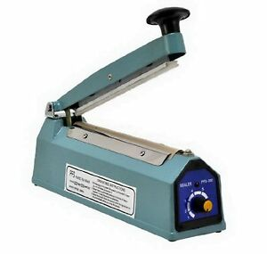 8 Pfs 200c Hand Impulse Sealer With Cutter Heat Seal Plastic Poly Manual Bag