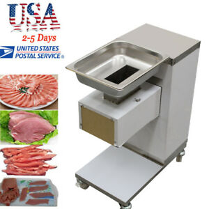 Usa Commercial Meat Slicer Cut Machine Cutter Stainless 500kg hour Restaurant Ce