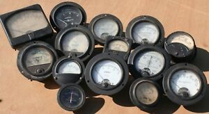Lot 14 Vintage Panel Meters Steampunk