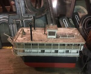 Old Model Of Famous Paddle Boat Chautauqua Bell For Restoration Shipping Ok