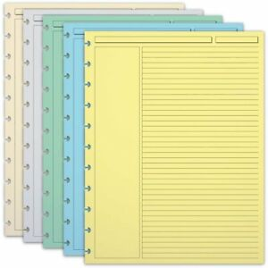 300 Circa Multicolor 1 4 Inch Ruled Refill Sheets Ltr Ads6165 Ltr