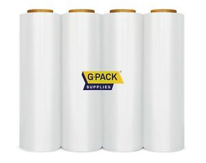 Stretch Film 18 X 1000 Ft 85 Gauge Clear Stretch Moving Packing Wrap 4 Rolls