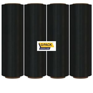 Stretch Film 18 X 1000 Ft 85 Black Gauge Stretch Moving Packing Wrap 4 Rolls