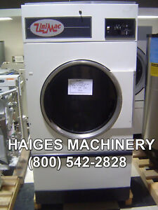 Unimac 75lb Commercial Gas Dryer