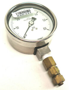 Wika Pressure Gauge 0 60 Psi 316 Ss Tube And Connection