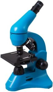 Levenhuk Rainbow 50l Azure Biological Microscope With Experiment Kit