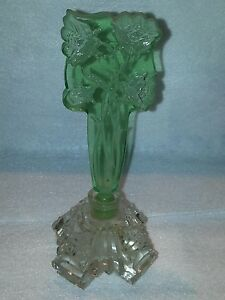Gorgeous Art Deco Gift Perfume Bottle Rare Cut Glass With Dauber