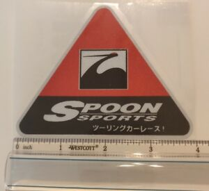 Jdm Reflective Decal Sticker Spoon Sports Type One Honda Drift Us Seller Red2 Sm