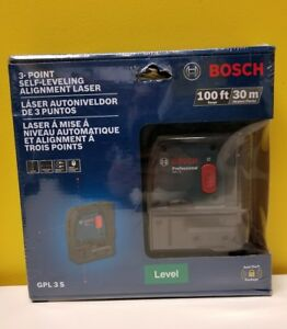 Bosch Gpl 3 S 3 point Self leveling Alignment Laser 100 Ft Range New Sealed