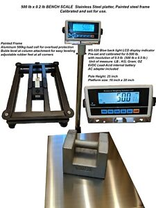Large Bench Scale Ms 520 500 Shipping Floor Industrial 500lb X0 2 Lb Lb kg g oz
