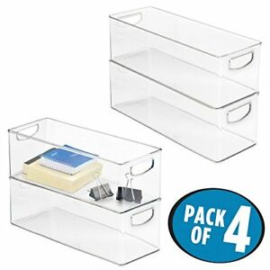 Mdesign Office Organizer Bins For Supplies Pens Pencils Staple 4 Pack
