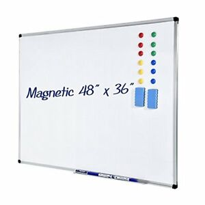 Dry Erase Board ymiko White Board 36x48 Inch Magnetic With 4 Marker Pen Pen H
