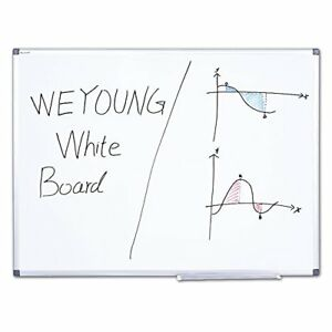 Weyoung Dry Erase Board 48x36 Inches Magnetic White Board Large Dry Wipe Whit
